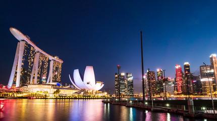 シンガポール マリーナ・ベイ 夜景
