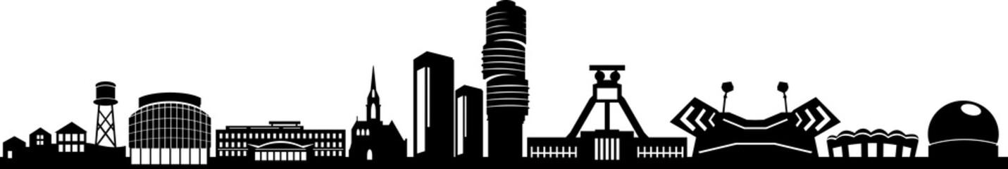 Fototapete - Bochum City Skyline