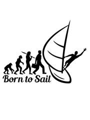born to sail sailing evolution hobby meer wellen boot segeln schiff segelboot wasser schwimmen verein crew kapitän yacht segelschiff logo design clipart