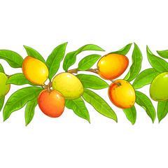mango vector pattern