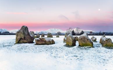 Fototapete - Winter Sunrise in the Lake District