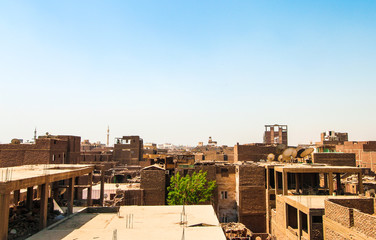 Cityscape of Luxor from rooftop (Image of downtown buildings)