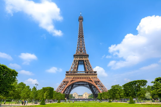 Eiffel Tower and Field of Mars, Paris, France