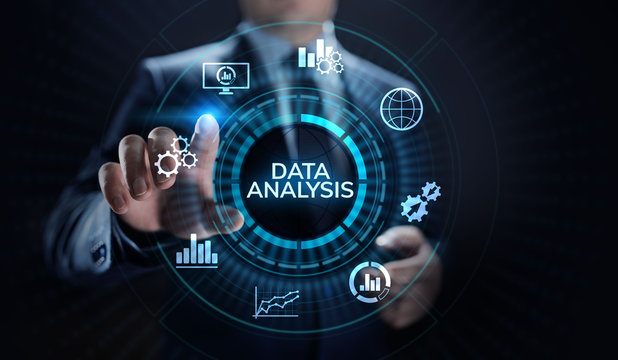 Data analysis business intelligence analytics internet technology concept.