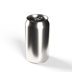 Realistic can mockup - Isolated packaging template easy to customize, 3D rendering on white background