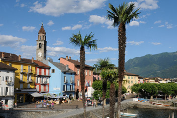 Ascona at the Lago Maggiore is famous among swiss and german tourists.