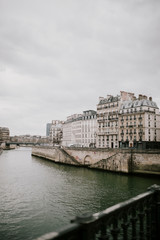 Seine and houses in Paris