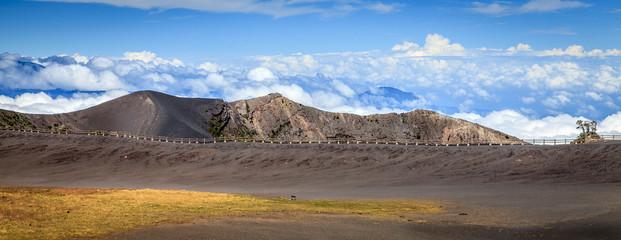 Top of Irazu volcano in Costa Rica