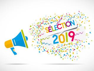 mégaphone confettis : sélection 2019