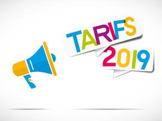 mégaphone coloré : tarifs 2019