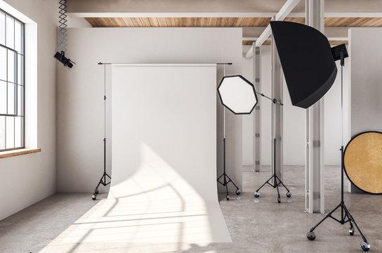 Modern photo studio