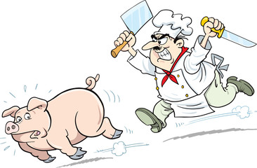 Pig, pork and cook