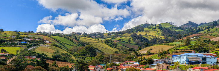 Rural landscape of Cartago Province, Costa Rica Wall mural