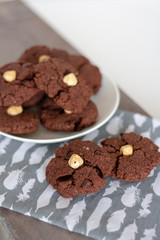 Freshly baked chocolate chips healthy cookies