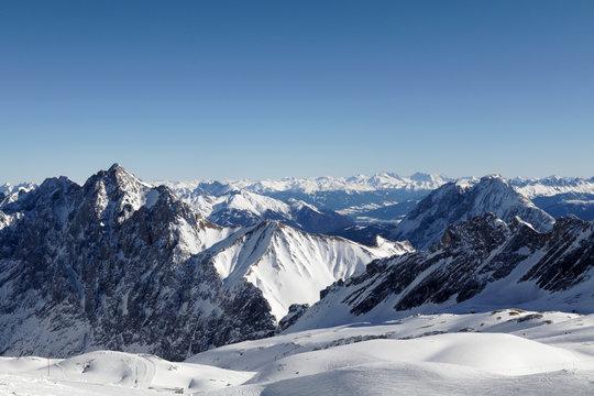 Zugspitze, Germany, mountain, snow, peak, winter