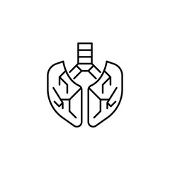human organ lungs outline icon. Signs and symbols can be used for web, logo, mobile app, UI, UX