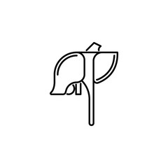 human organ liver outline icon. Signs and symbols can be used for web, logo, mobile app, UI, UX