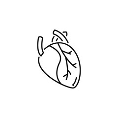 human organ heart outline icon. Signs and symbols can be used for web, logo, mobile app, UI, UX