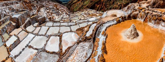 Salt Mines in Maras, Sacred Valley, Peru.