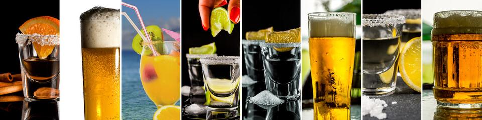 Obraz Collage of alcohol drinks - fototapety do salonu