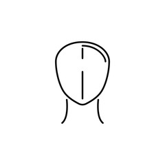 human organ head outline icon. Signs and symbols can be used for web, logo, mobile app, UI, UX