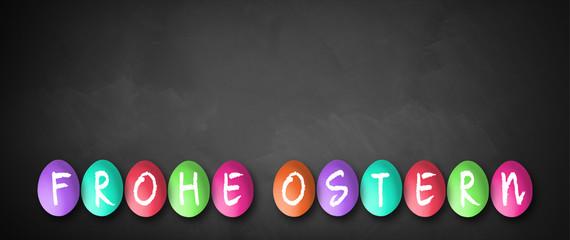 """Ostereier mit Nachricht """"Frohe Ostern"""""""