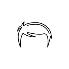 human organ men hair outline icon. Signs and symbols can be used for web, logo, mobile app, UI, UX
