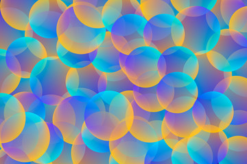 Gradient background with colorful spheres