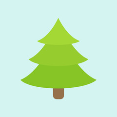 Green Christmas tree. Winter. Blue background. Vector illustration. EPS 10. Green Christmas tree. Winter. Blue background. Vector illustration. EPS 10.