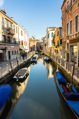 Classical picture of the venetian canal, Italy.