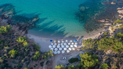 Notos beach. Thassos island, Greece