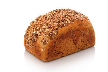 Brot Brotblaib Kastenbrot mit Leinsamen und Haferflocken