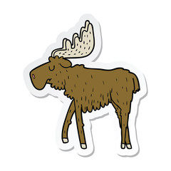 sticker of a cartoon moose