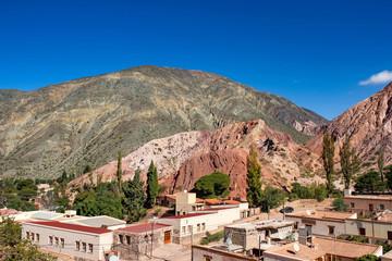 Landscape view of a little village of Purmamarca, Argentina