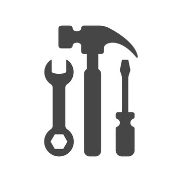Tools Icon in trendy flat style isolated on white background. Repair, Service symbol for your web site design, logo, app, UI. Vector illustration.