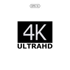 4k ultra hd vector icon