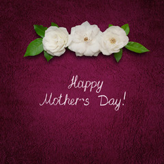 Square greeting card Happy Mothers Day