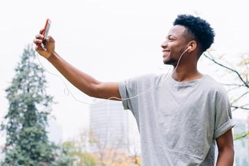 Man taking a selfie outdoor