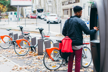 Man renting a bike