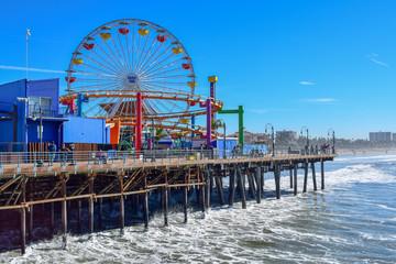Santa Monica Pier and Ferris Wheel Wall mural