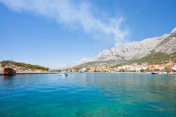 Makarska, Dalmatia, Croatia - Impressive view across the bay of Makarska
