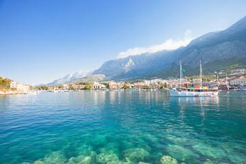 Makarska, Dalmatia, Croatia - Turquoise water at the wonderful beach of Makarska