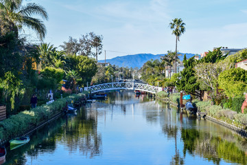 Colorful Venice Canals in Los Angeles, CA