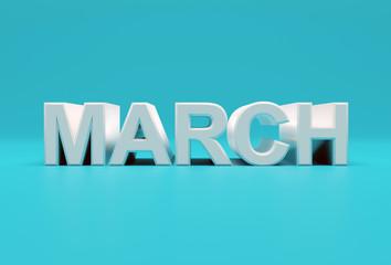 March text calendar background