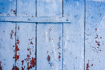 Background of blue wooden surface