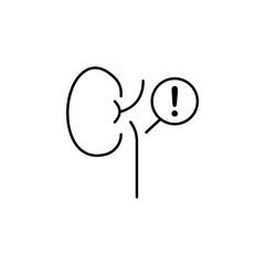 kidney, disease, medical icon. Element of disease icon. Thin line icon for website design and development, app development. Premium icon