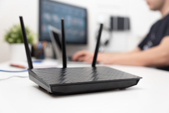 Modern dual band wireless router