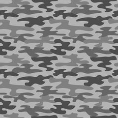 Gray camouflage seamless pattern.