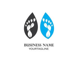 foot ilustration Logo vector for business massage,therapist
