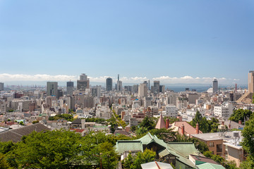 Downtown Kobe City from the Kitano District - Western Japan